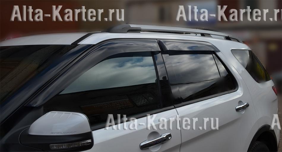 Дефлекторы Cobra Tuning EuroStandart для окон Ford Explorer V 2010 по наст. вр.. Артикул FE33810