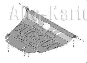 Защита АвтоСтандарт для картера и КПП Pontiac Vibe II 2008-2010. Артикул 52517