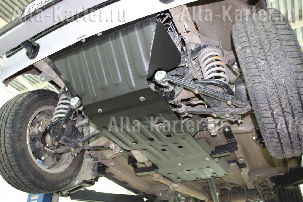 Защита Alfeco для картера и КПП (2 части А и В) ВАЗ 4х4 3-дв., 4х4 Urban, 4x4 Bronto 2008-2021. Артикул ALF.28.18