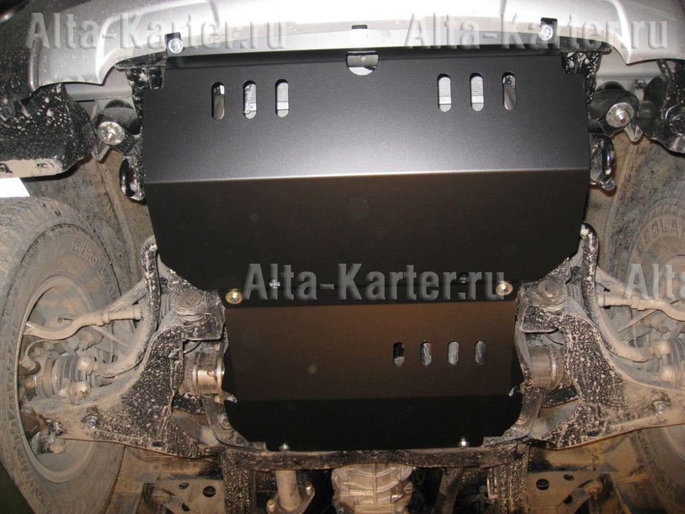 Защита Alfeco для картера и радиатора (2 части) Mitsubishi Pajero Sport II 2008-2015. Артикул ALF.14.08