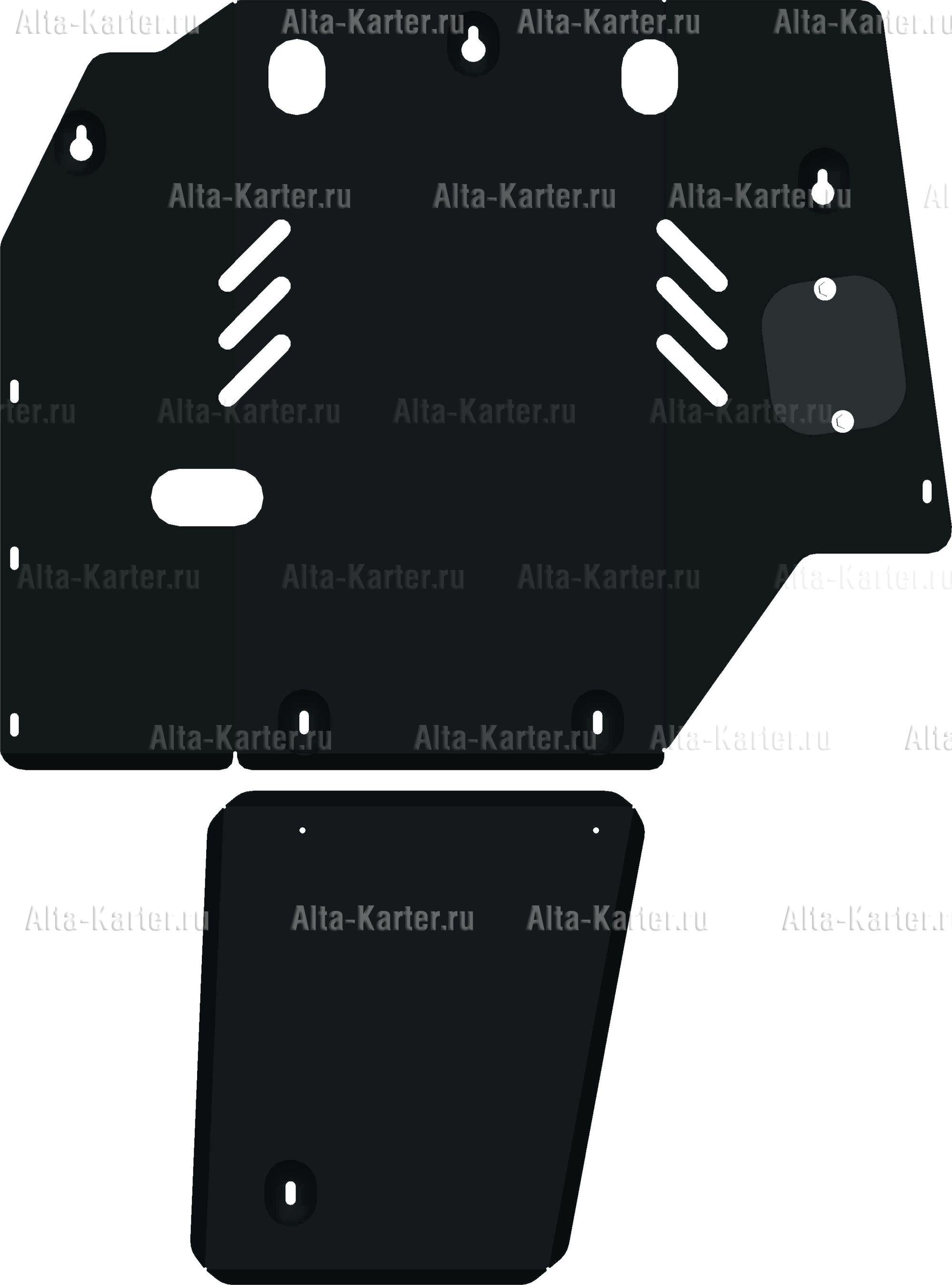 Защита Alfeco для картера и КПП Toyota Estima I Lucida 1990-2000. Артикул ALF.24.64