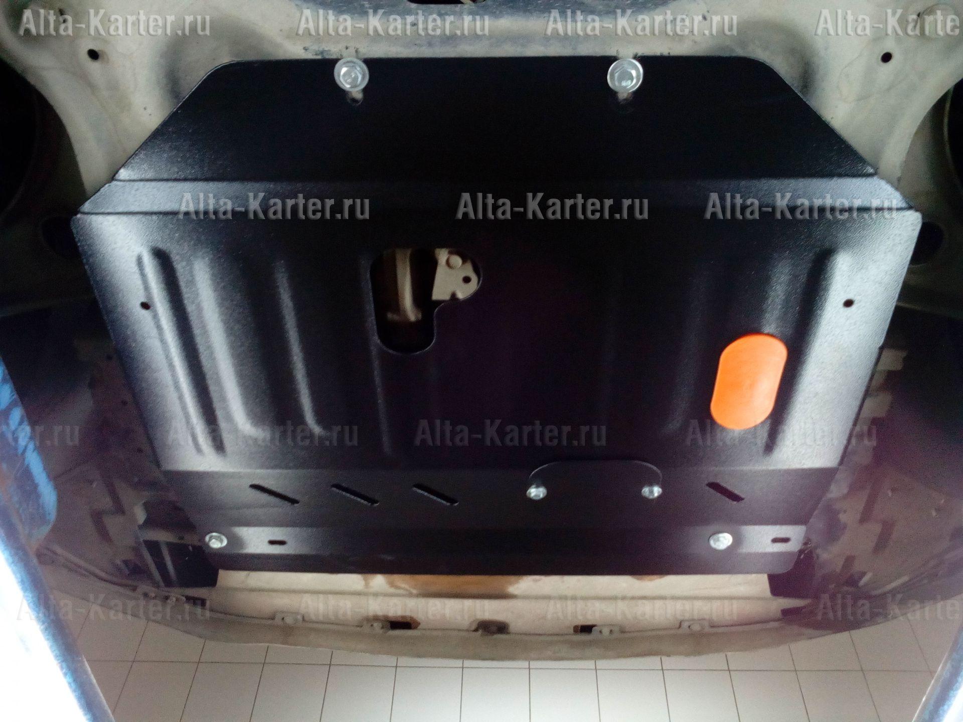 Защита Alfeco для картера и КПП Nissan March K13 2010-2016. Артикул ALF.15.56