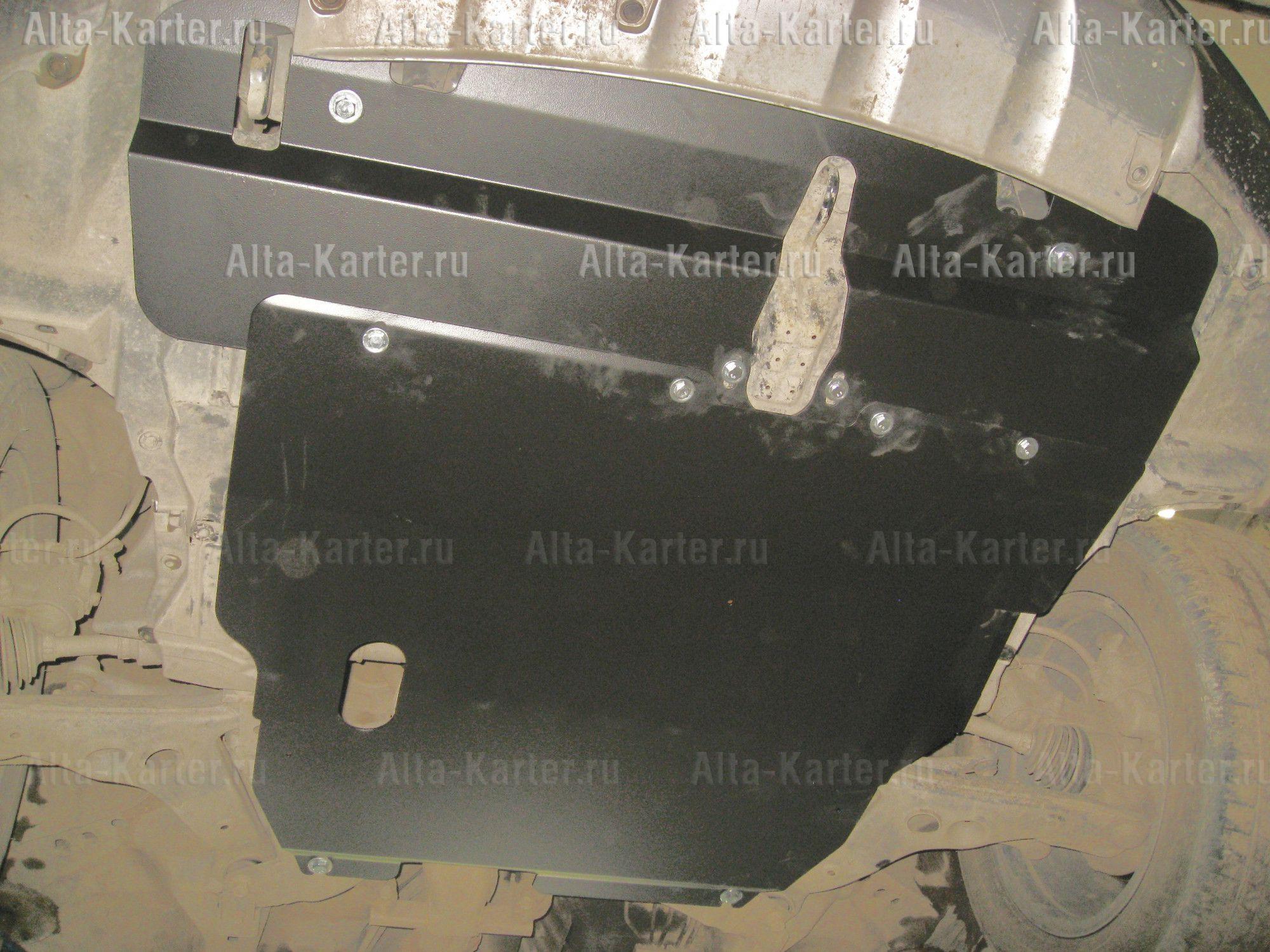 Защита Alfeco для картера и КПП Mitsubishi Airtrek 2001-2008. Артикул ALF.14.16