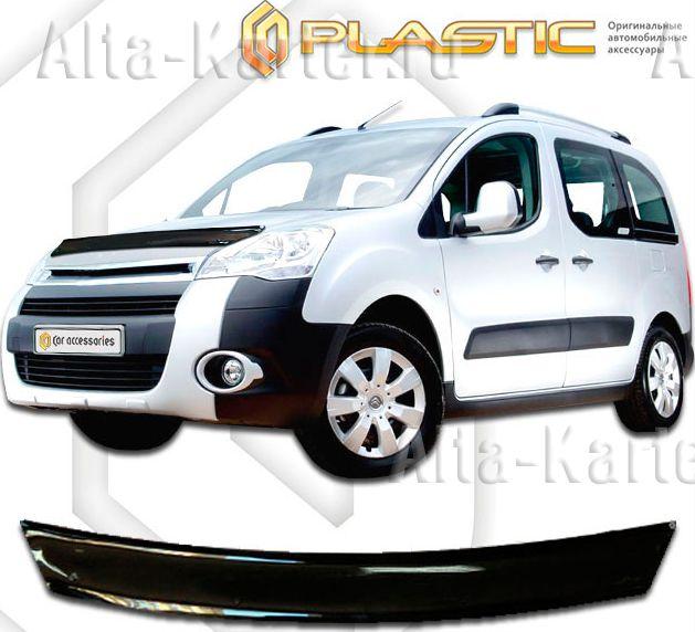 Дефлектор СА Пластик для капота (Classic черный) Peugeot Partner TEPEE 2009 по наст. вр.. Артикул 2010010112721